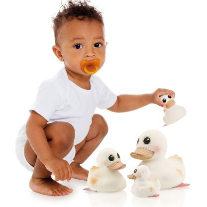 Large Sized Hevea Natural Rubber Duck Water Toys for Kids