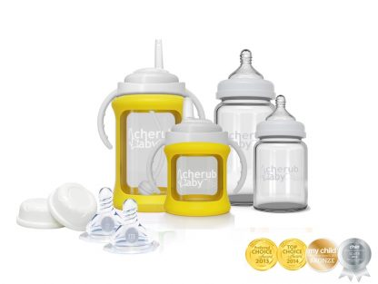 Wide Neck Glass Bottle Yellow